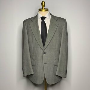 Burberry Blazer - Gray Solid Jacket Wool Mens 40R